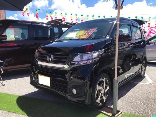 沖縄の中古車 ホンダ N-WGNカスタム 車両価格 68万円 リ済込 2015(平成27)年 10.5万km スマートブラック