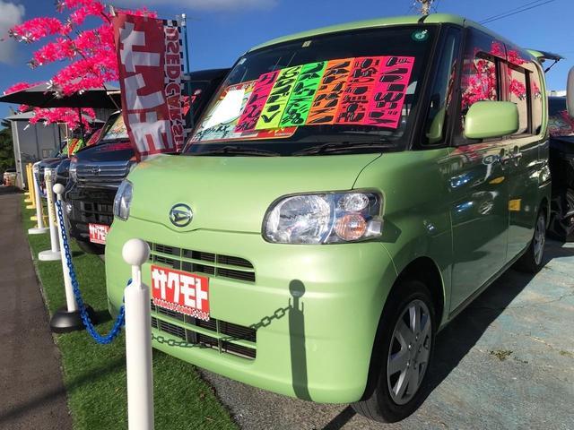 沖縄県の中古車ならタント X スマートキー キーフリースタート ベンチシート 左パワースライドドア アイドリングストップ Kenwoodナビ TV Bluetooth オートエアコン 2年保証