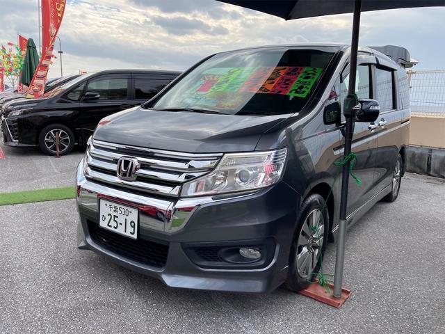 沖縄の中古車 ホンダ ステップワゴンスパーダ 車両価格 108万円 リ済込 2013(平成25)年 10.0万km モダンスティールメタリック