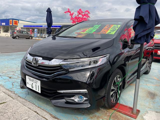 沖縄の中古車 ホンダ シャトル 車両価格 118万円 リ済込 2015(平成27)年 9.1万km クリスタルブラックパール