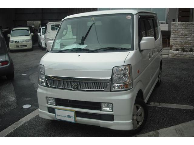 沖縄の中古車 スズキ エブリイワゴン 車両価格 64万円 リ済別 平成21年 9.2万km パールホワイト