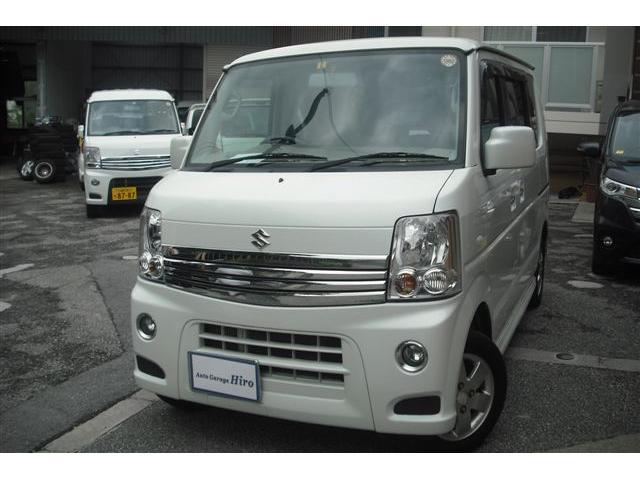 沖縄の中古車 スズキ エブリイワゴン 車両価格 72万円 リ済別 平成24年 9.2万km パールホワイト
