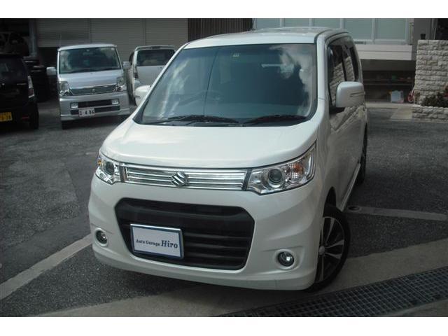 沖縄の中古車 スズキ ワゴンRスティングレー 車両価格 69万円 リ済別 2013(平成25)年 7.5万km パールホワイト