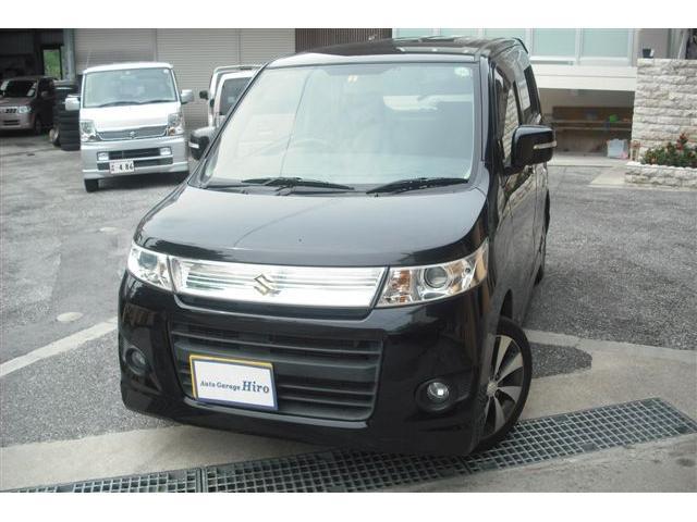 沖縄の中古車 スズキ ワゴンRスティングレー 車両価格 54万円 リ済別 2012(平成24)年 8.5万km ブラックM