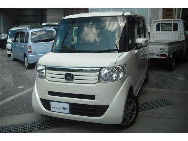 沖縄の中古車 ホンダ N-BOX 車両価格 77万円 リ済別 2015(平成27)年 8.5万km パールホワイト