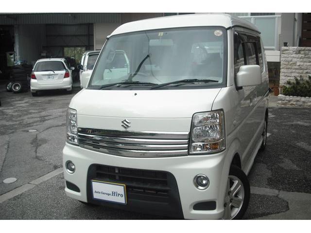 沖縄の中古車 スズキ エブリイワゴン 車両価格 84万円 リ済別 2011(平成23)年 8.0万km パールホワイト