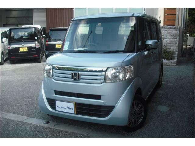 沖縄の中古車 ホンダ N-BOX 車両価格 69万円 リ済別 2013(平成25)年 8.6万km ライトブルーM