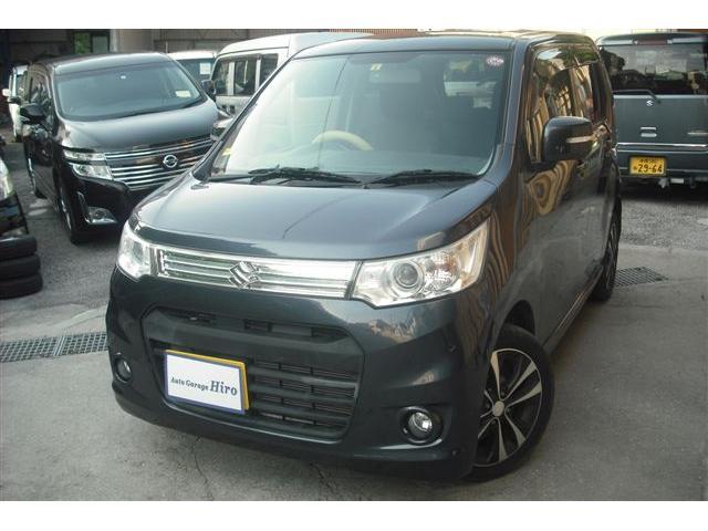 沖縄の中古車 スズキ ワゴンRスティングレー 車両価格 64万円 リ済別 2013(平成25)年 6.2万km グレーM