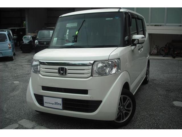 沖縄の中古車 ホンダ N-BOX 車両価格 71万円 リ済別 2014(平成26)年 8.5万km パールホワイト