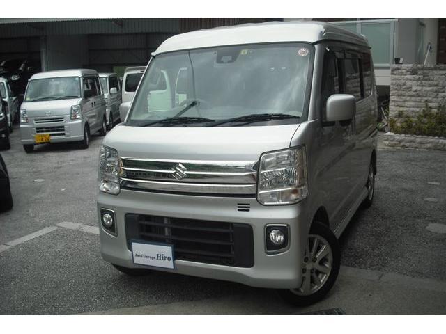 沖縄の中古車 スズキ エブリイワゴン 車両価格 82万円 リ済別 2015(平成27)年 9.5万km シルバーM