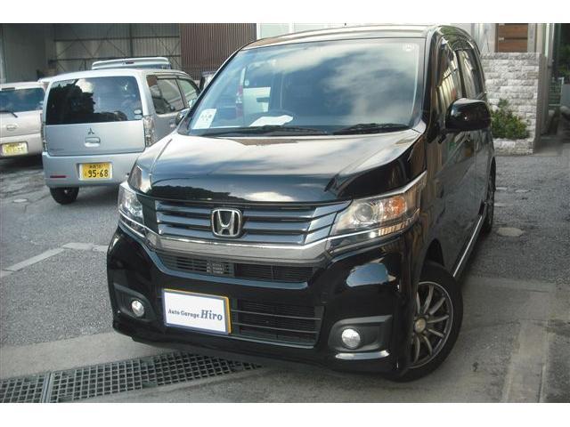 沖縄の中古車 ホンダ N-WGNカスタム 車両価格 74万円 リ済別 2014(平成26)年 7.7万km ブラックM