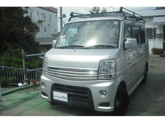 沖縄の中古車 スズキ エブリイワゴン 車両価格 62万円 リ済別 2011(平成23)年 11.5万km シルバーM