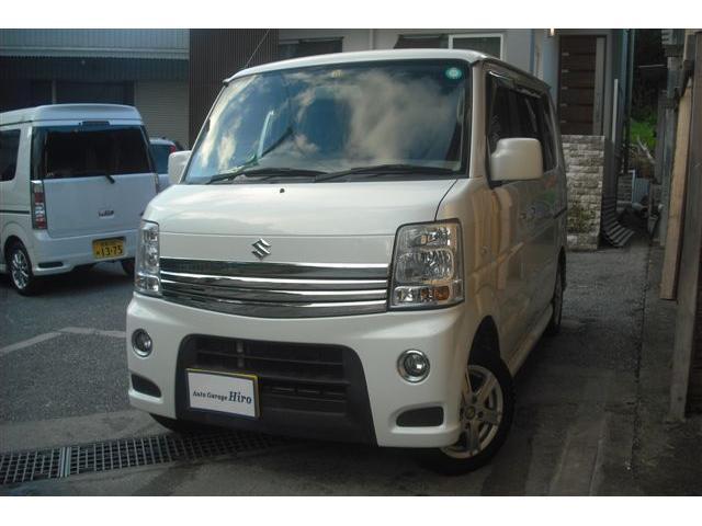 沖縄の中古車 スズキ エブリイワゴン 車両価格 71万円 リ済別 2011(平成23)年 9.8万km パールホワイト