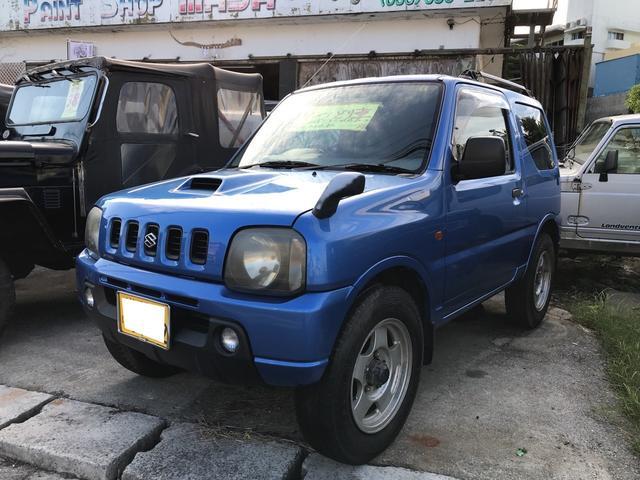 沖縄の中古車 スズキ ジムニー 車両価格 ASK リ済込 平成12年 28.1万km キプロスブルーメタリックII