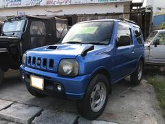 沖縄の中古車 スズキ ジムニー 車両価格 ASK リ済込 平成12年 28.1万K キプロスブルーメタリックII