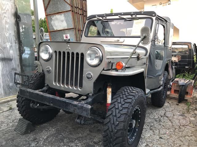 沖縄の中古車 三菱 ジープ 車両価格 ASK リ済込 昭和52年 8.9万km グレーM