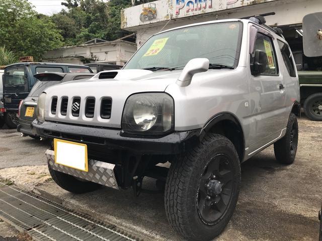 沖縄の中古車 スズキ ジムニー 車両価格 28万円 リ済込 平成14年 15.8万km シルキーシルバーメタリックII
