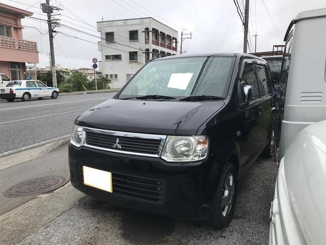 沖縄の中古車 三菱 eKワゴン 車両価格 18万円 リ済込 2008(平成20)年 10.2万km ブラックマイカ