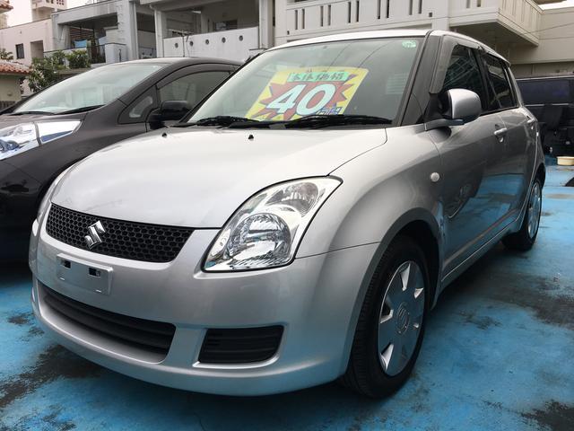 沖縄の中古車 スズキ スイフト 車両価格 40万円 リ済込 平成22年 7.2万km シルキーシルバーメタリック