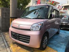 沖縄の中古車 スズキ スペーシア 車両価格 60万円 リ済込 平成25年 7.6万K ピンク