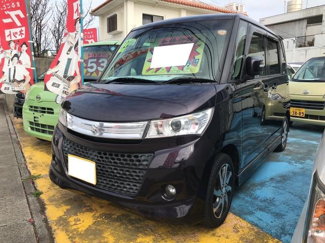 沖縄の中古車 スズキ パレットSW 車両価格 48万円 リ済込 平成22年 10.0万km ミステリアスバイオレットパール