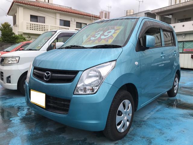 沖縄の中古車 マツダ AZワゴン 車両価格 39万円 リ済込 平成23年 8.7万km アクアベールブルーパールメタリック