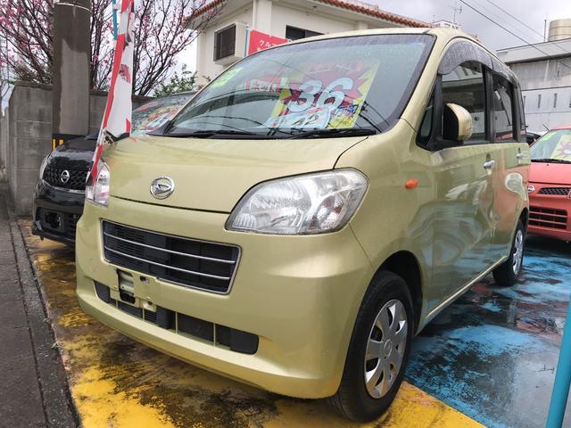 沖縄の中古車 ダイハツ タントエグゼ 車両価格 36万円 リ済込 平成22年 10.3万km グリーンM