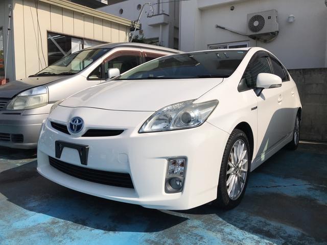 沖縄の中古車 トヨタ プリウス 車両価格 85万円 リ済込 2011(平成23)年 9.6万km スーパーホワイトII