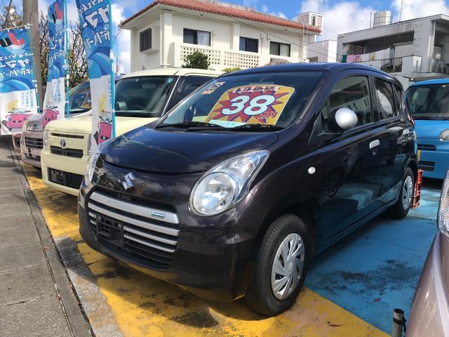 沖縄の中古車 スズキ アルトエコ 車両価格 38万円 リ済込 2014(平成26)年 9.0万km ブラウン