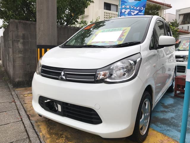 沖縄の中古車 三菱 eKワゴン 車両価格 45万円 リ済込 2014(平成26)年 8.6万km ホワイトソリッド
