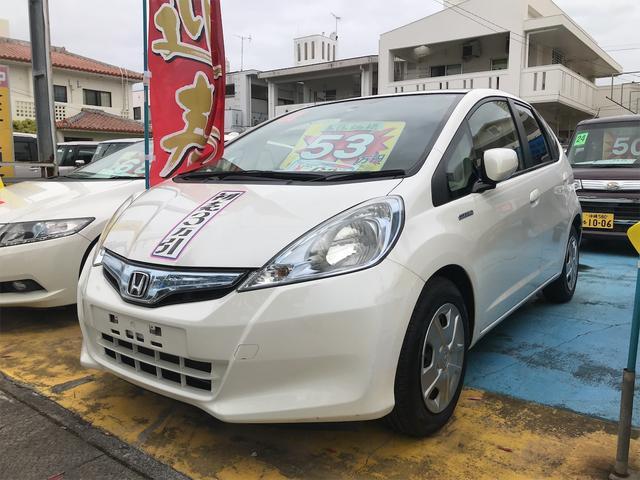 沖縄の中古車 ホンダ フィットハイブリッド 車両価格 53万円 リ済込 2013(平成25)年 8.8万km タフタホワイト