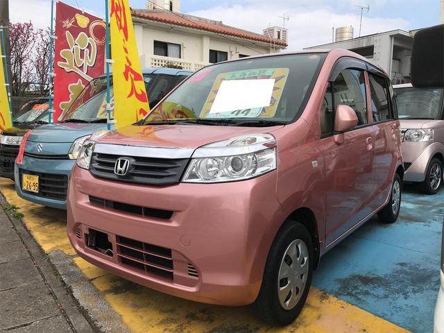 沖縄の中古車 ホンダ ライフ 車両価格 36万円 リ済込 2011(平成23)年 9.2万km ピンクゴールドメタリック