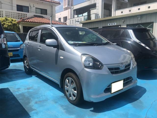 沖縄の中古車 ダイハツ ミライース 車両価格 35万円 リ済込 2012(平成24)年 8.6万km シルバー