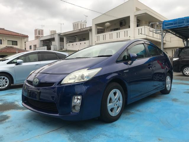 沖縄の中古車 トヨタ プリウス 車両価格 59万円 リ済込 2010(平成22)年 8.7万km ブルー