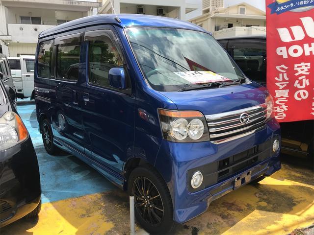 沖縄の中古車 ダイハツ アトレーワゴン 車両価格 48万円 リ済込 2010(平成22)年 9.7万km ブルー