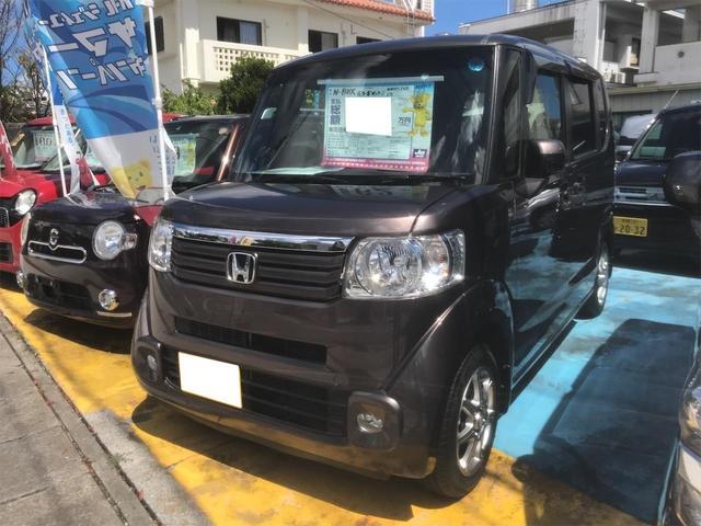 沖縄の中古車 ホンダ N-BOX 車両価格 59万円 リ済込 2013(平成25)年 8.6万km ブラウン