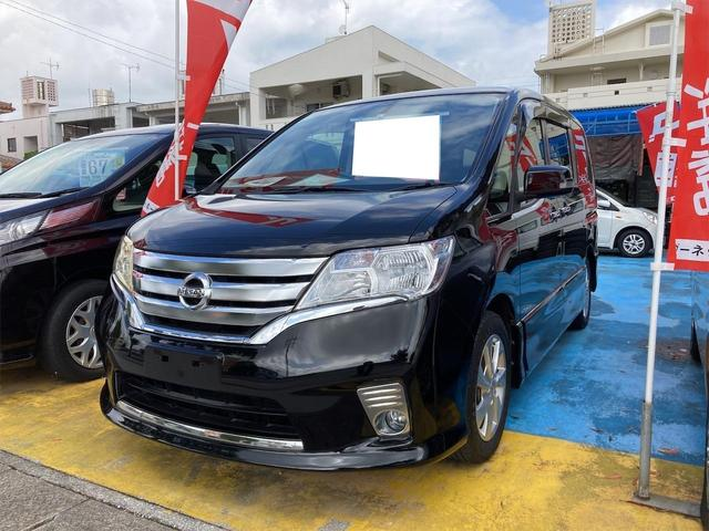 沖縄の中古車 日産 セレナ 車両価格 73万円 リ済込 2013(平成25)年 9.1万km ブラック
