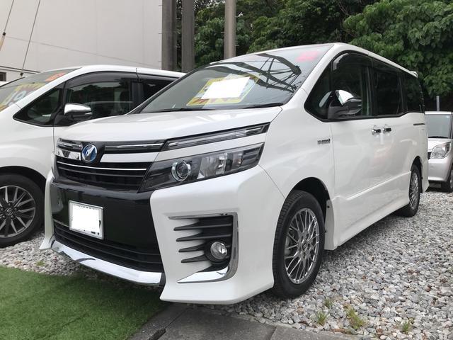 沖縄県の中古車ならヴォクシー ハイブリッドZS ワンオーナー トヨタセーフティセンス