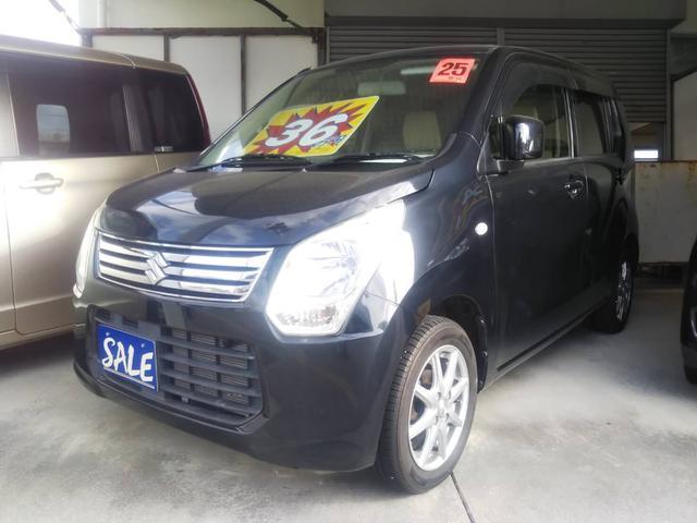 沖縄の中古車 スズキ ワゴンR 車両価格 39万円 リ済別 2013(平成25)年 8.6万km ブルーイッシュブラックパール3