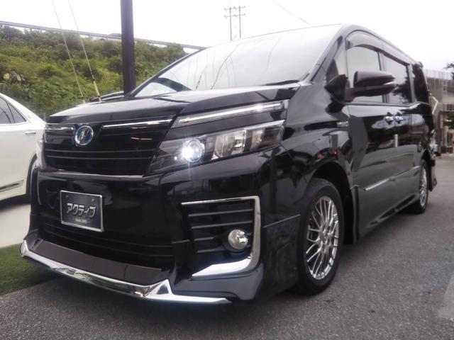 沖縄の中古車 トヨタ ヴォクシー 車両価格 268万円 リ済別 2016(平成28)年 7.5万km ブラック