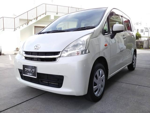 沖縄県の中古車ならムーヴ L ナビ TV Bluetooth DVDビデオ アイドリングストップ タイミングチェーン式 レザー調シートカバー