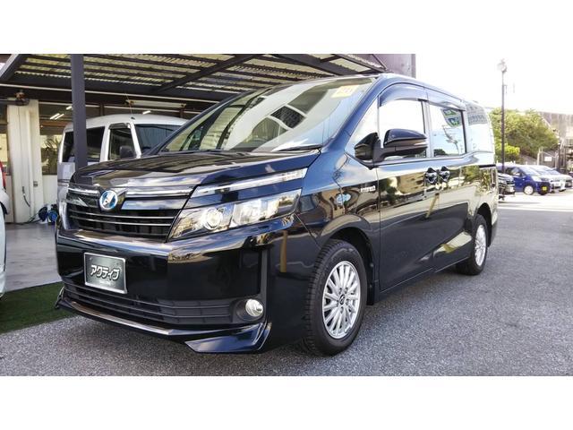 沖縄の中古車 トヨタ ヴォクシー 車両価格 168万円 リ済別 2014(平成26)年 7.5万km ブラック