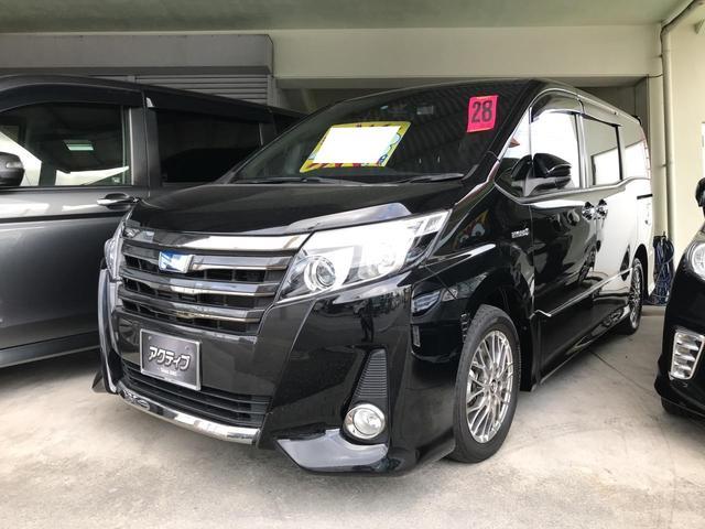 沖縄の中古車 トヨタ ノア 車両価格 248万円 リ済別 2016(平成28)年 6.6万km ブラック