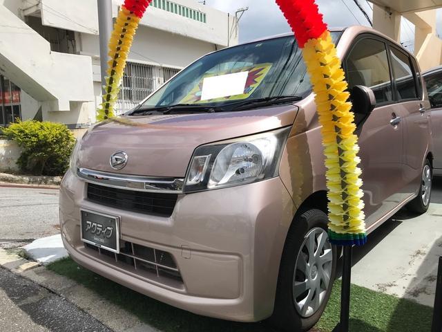 沖縄県の中古車ならムーヴ L アイドリングストップ CVT レザー調シートカバー タイミングチェーン式