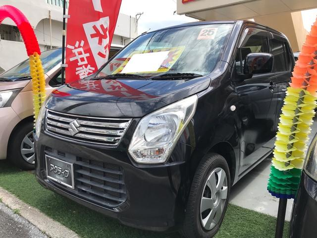 沖縄の中古車 スズキ ワゴンR 車両価格 38万円 リ済別 2013(平成25)年 9.9万km ブルーイッシュブラックパール3
