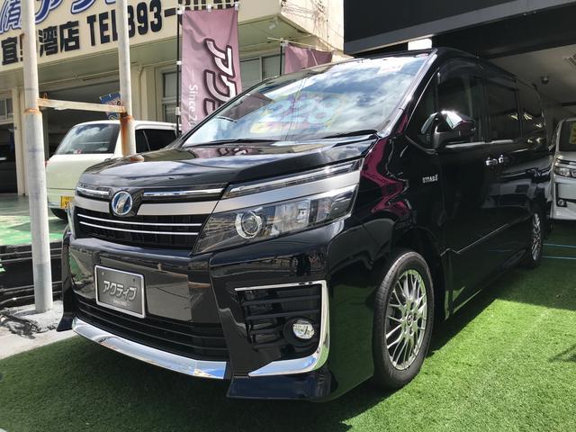 沖縄の中古車 トヨタ ヴォクシー 車両価格 228万円 リ済別 2016(平成28)年 7.8万km ブラック