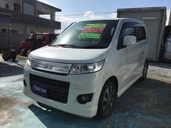 沖縄の中古車 スズキ ワゴンRスティングレー 車両価格 42万円 リ済込 平成21年 13.4万K パールホワイト