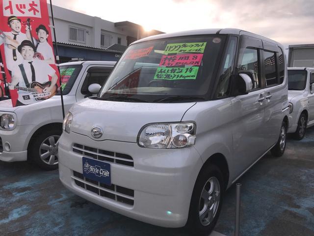 沖縄の中古車 ダイハツ タント 車両価格 35万円 リ済込 平成22年 12.4万km パールホワイト
