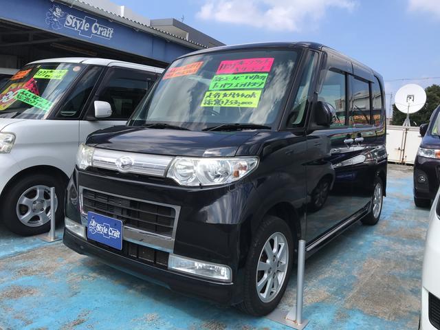 沖縄の中古車 ダイハツ タント 車両価格 45万円 リ済込 平成21年 10.9万km ブラック