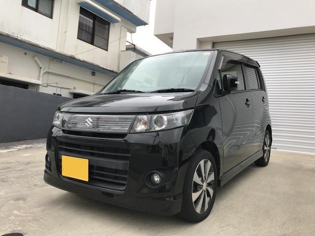 沖縄の中古車 スズキ ワゴンRスティングレー 車両価格 49万円 リ済込 平成24年 11.9万km ブラック